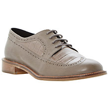 Buy Dune Lacker Leather Brogues, Grey Online at johnlewis.com