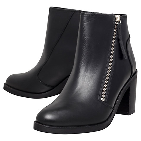 Buy KG by Kurt Geiger Shake Leather Ankle Boots, Black Online at johnlewis.com