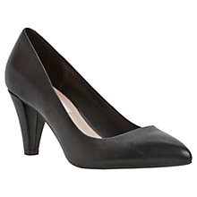 Buy Dune Ashlie Leather Court Shoes, Black Online at johnlewis.com