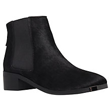Buy KG by Kurt Geiger Shadow Pony Ankle Boots, Black Online at johnlewis.com