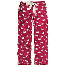 Buy Fat Face Festive Bunnies Pyjama Pants, Red Online at johnlewis.com