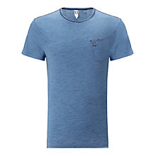 Buy G-Star Raw Indigo Textured Jersey Short Sleeved T-Shirt, Light Aged Online at johnlewis.com