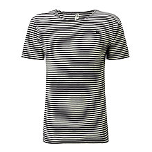 Buy G-Star Raw Neoth Striped T-Shirt, Mazzarine Blue / Chalk Online at johnlewis.com