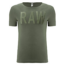 Buy G-Star Raw Art Logo Cotton T-Shirt, Raw Grey Online at johnlewis.com