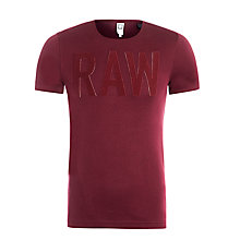 Buy G-Star Raw Art Logo Cotton T-Shirt Online at johnlewis.com