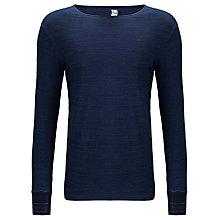 Buy G-Star Raw Indigo Textured Jersey Long Sleeved T-Shirt, Dark Blue Online at johnlewis.com