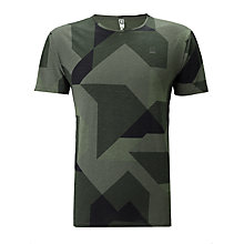 Buy G-Star Raw Groved Asymmetric Print T-Shirt, Smoke Green Online at johnlewis.com