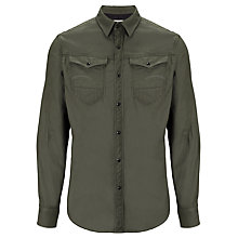 Buy G-Star Raw Arc 3D Chambrey Oxford Cotton Shirt, Raw Grey Online at johnlewis.com