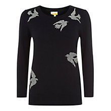 Buy Hobbs Swallow Jumper, Dark Navy Online at johnlewis.com