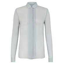Buy Hobbs Bloomsbury Silk Blouse, Winter Blue Online at johnlewis.com