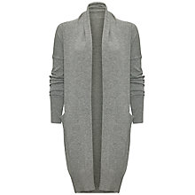 Buy Jaeger Cashmere Drape Cardigan, Light Grey Melange Online at johnlewis.com