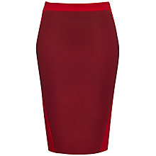 Buy Jaeger Compact Jersey Skirt, Winter Berry / Cherry Online at johnlewis.com
