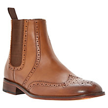 Buy Dune Brogue Leather Chelsea Boots, Tan Online at johnlewis.com