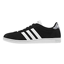 Buy Adidas VLNEO Men's Court Trainers, Black Online at johnlewis.com