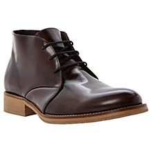 Buy Dune Crib Leather Chukka Boots, Brown Online at johnlewis.com