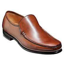 Buy Barker Torquay Leather Moccasin Shoes, Brown Online at johnlewis.com