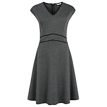 Buy Kaliko Ponte Panel Skater Dress, Grey Online at johnlewis.com