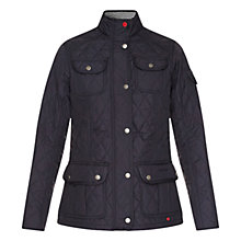 Buy Barbour Buryhead Quilted Jacket, Navy Online at johnlewis.com