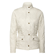 Buy Barbour Cavalry Flyweight Jacket, Cream Online at johnlewis.com