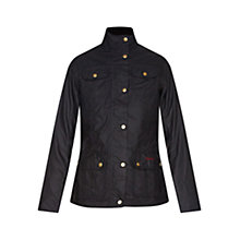 Buy Barbour Emma Waxed Jacket, Navy Online at johnlewis.com