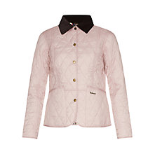 Buy Barbour Elysia Quilt Jacket, Mauve/Garter Blue Online at johnlewis.com
