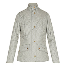 Buy Barbour Flyweight Cavalry Jacket, Pale Sage & Pearl Online at johnlewis.com