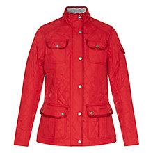 Buy Barbour Buryhead Quilted Jacket, Red Online at johnlewis.com