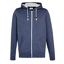 Buy Hilfiger Denim Vaco Full Zip Hoodie, Black Iris Online at johnlewis.com