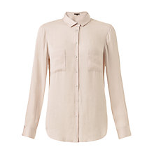 Buy Jigsaw Classic Crocus Drape Shirt, Cream Online at johnlewis.com