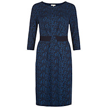 Buy Hobbs Nia Dress, Bluebell/Black Online at johnlewis.com