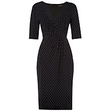Buy Jaeger Spot Print Jersey Dress, Ivory / Navy Online at johnlewis.com