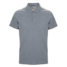 Buy Kin by John Lewis Jersey Stripe Polo Shirt, Navy Online at johnlewis.com