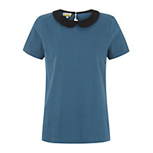 Buy Hobbs Ruth T-Shirt, Airforce Black Online at johnlewis.com