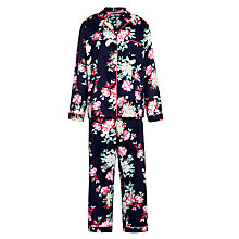 Buy John Lewis Vintage Floral Pyjama Set, Navy Multi Online at johnlewis.com