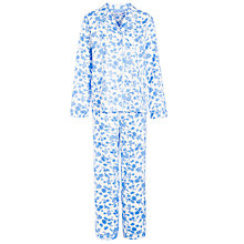 Buy John Lewis Brigitte Floral Pyjama Set, White / Blue Online at johnlewis.com