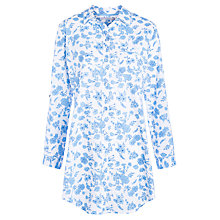 Buy John Lewis Brigitte Nightshirt, White / Blue Online at johnlewis.com