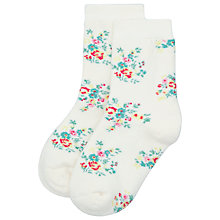 Buy Cath Kidston Children's Rosy Sprig Slipper Socks, Cream Online at johnlewis.com