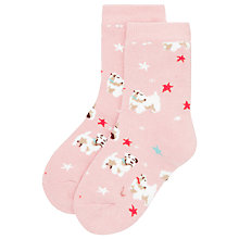 Buy Cath Kidston Children's Star & Dog Slipper Socks, Pink Online at johnlewis.com