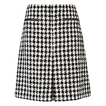 Buy Phase Eight Samina Dogtooth Skirt, Black/Ivory Online at johnlewis.com