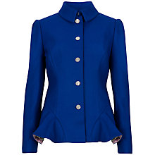 Buy Ted Baker Peplum Jacket, Bright Blue Online at johnlewis.com