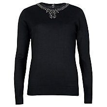 Buy Ted Baker Embellished Sweater, Black Online at johnlewis.com
