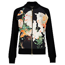 Buy Ted Baker Opulent Bloom Bomber Jacket, Black/Multi Online at johnlewis.com