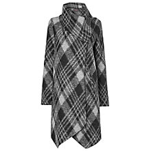 Buy Phase Eight Bellona Check Coat, Black/Silver Online at johnlewis.com