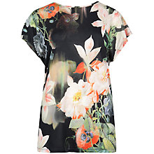 Buy Ted Baker Opulent Bloom Print T-Shirt, Black Online at johnlewis.com