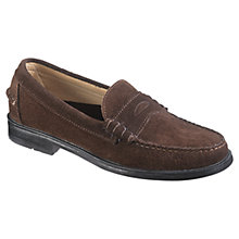 Buy Sebago Grant Leather Moccasin Shoes, Brown Online at johnlewis.com