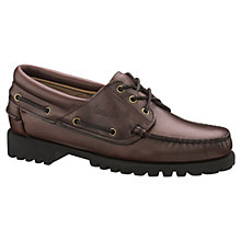 Buy Sebago Rugged Moccasin Leather Shoes, Brown Online at johnlewis.com