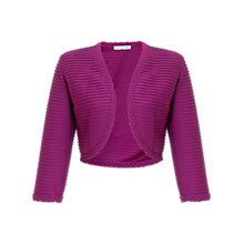 Buy Gina Bacconi Pintuck Jersey Bolero, Mulberry Online at johnlewis.com