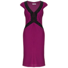 Buy Gina Bacconi Pintuck Jersey Dress, Mulberry Online at johnlewis.com