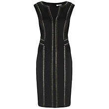 Buy Gina Bacconi Studded Ponti Dress, Black Online at johnlewis.com
