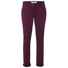 Buy White Stuff Pottering Chino Trousers, Dark Magenta Gouache Online at johnlewis.com